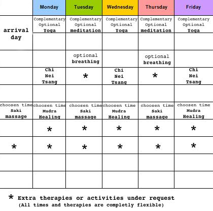 Schedule 5 days